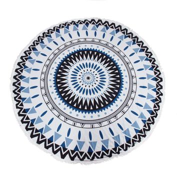 Aztec Sky Round Tapestry Beach Throw Mandala Towel