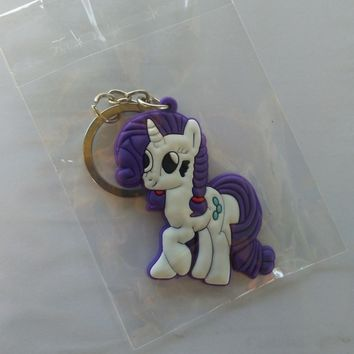 New My Little Pony Rarity Silicone Keychain