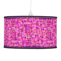 Modern Love In Pink & Purple Pendant Lamp