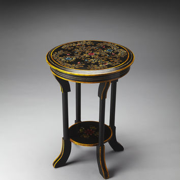 Artifacts Hand Painted Accent Table