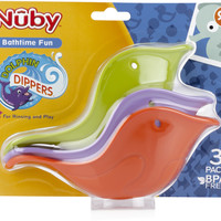 nuby dolphin dippers bath scoops (3 pack) Case of 24