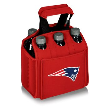 New England Patriots - Six Pack Beverage Carrier (Red)