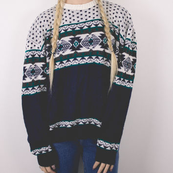Vintage 80s Nordic Tribal Sweater