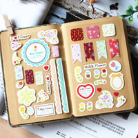 3Pcs/Lot Sweet Lace Paper Stickers Decoration Decal DIY Scrapbooking Sealing Sticker Post It Kawaii Stationery Gift H0711