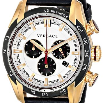 Versace Men's VDB040014 V-Ray Analog Display Quartz Black Watch