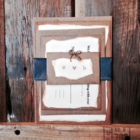 Adorable handmade Wedding Invitation