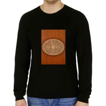 Aztec Calendar Nexus Wood Texture - Sweater for Man and Woman, S / M / L / XL / 2XL **