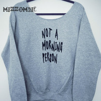 MORNINGS  sweater, Off The Shoulder, Over sized, loose fitting, grunge
