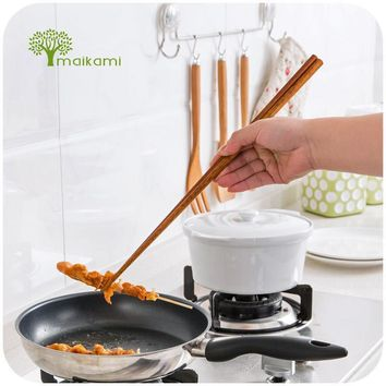 1Pair Cook Noodles Super Long Bamboo Chopsticks Deep Fried Chafing Dish Hot Pot Chinese Restaurant Free Shipping