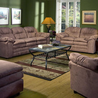 Serta 5750 Chocolate Microfiber Sofa and Loveseat