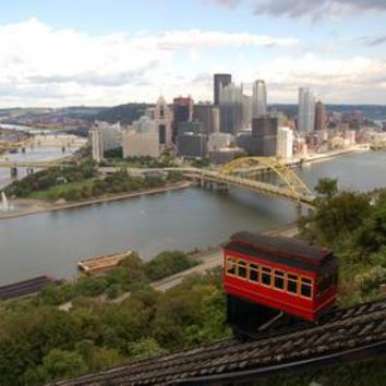 Pittsburgh Skyline Poster Photography 11 inch x 17 inch poster