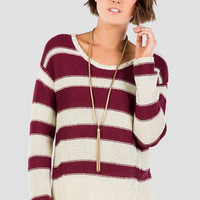 QUINN COLORBLOCK STRIPED SWEATER