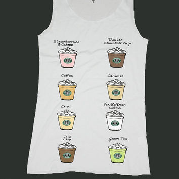 STARBUCKS singlet screen print tank top ety217v