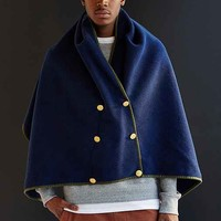 RTH X Urban Renewal Recycled Double-Breasted Cape- Blue One