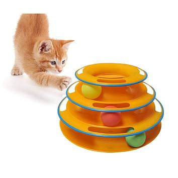 Interactive Turntable Cat Toy
