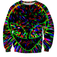 Trippy alien head sweatshirt
