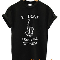 5sos shirt - I Don't trust Me Either 5 Seconds Of Summer  Music Band Logo Unisex T Shirt Black & White tee Size N-1