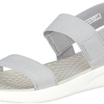 Crocs Women's LiteRide Sandal, Light Grey/White, 8 M US