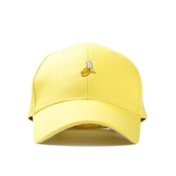 New Arrival Spring Leisure Fresh Fruit Embroidery Hat Strawberry Banana Cherry Orange Peach Baseball Cap For Women