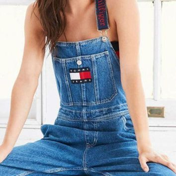 MDIGHQ9 Tommy Jeans x Urban Outfitters Fashion Romper Jumpsuit Pants