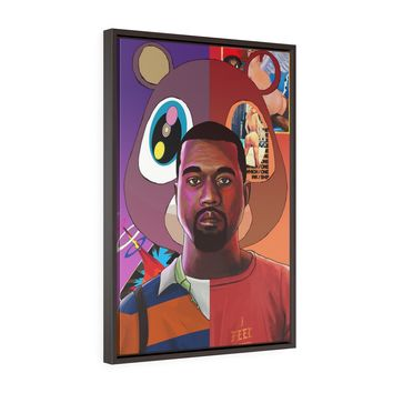 Kanye West Framed Canvas Gallery Wrap