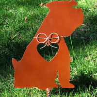 Schnauzer Dog Metal Garden Stake - Metal Yard Art - Metal Garden Art - Pet Memorial 2