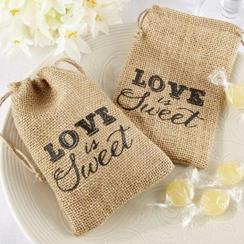 Sweet      Brown  Wedding  Favors  Vintage  Burlap