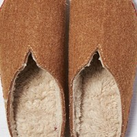 AEO Women's Woolrich Felt Mill Scuff Slipper (Coffee)