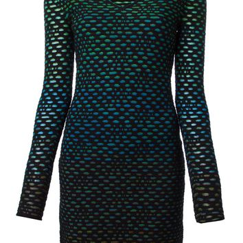 M Missoni crochet knit fitted dress