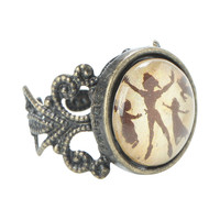 Disney Peter Pan Flying Silhouette Ring