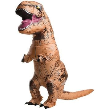 Jurassic World Inflatable T-Rex Costume - Adult (Blue)