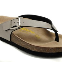Birkenstock Birki Sandals Leather Creamy-white - Ready Stock