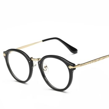 Round Clear Lens Glasses Classic Women Round Eyeglasses Frame Optical Prescription Glasses Frame Spectacle Frames Women Men 2017