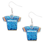 Denver Broncos Women's Glitter Jersey Earrings