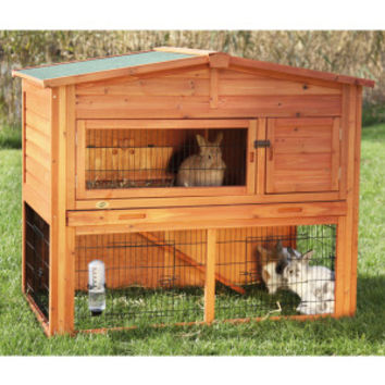 Trixie 2-Story Attic Rabbit Hutch