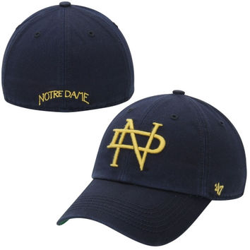 the best attitude 1f94b fe3ae ... official store notre dame fighting irish 47 brand vault fitted hat navy  blue c03b4 e4903