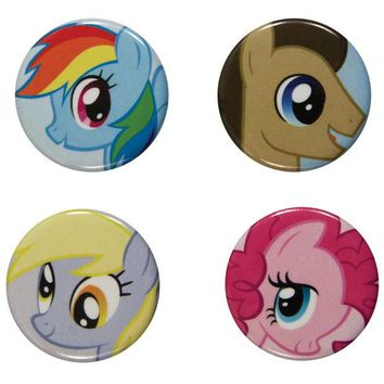 DCCKU3R My Little Pony - Characters 4-Piece Button Set
