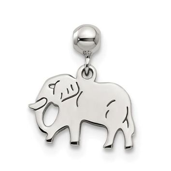 Sterling Silver Mio Memento Dangle Elephant Charm