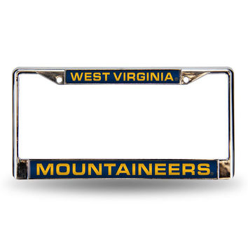West Virginia Mountaineers NCAA Laser Chrome License Plate Frame