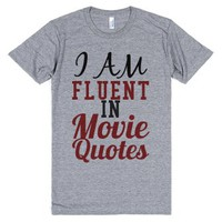 I Am Fluent In Movie Quotes-Unisex Athletic Grey T-Shirt