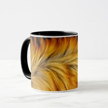 Cool Trendy Brown Horse fur texture design Mug