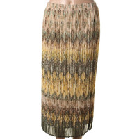 Alfred Dunner Womens Petites Chiffon Knife Pleat Straight Skirt