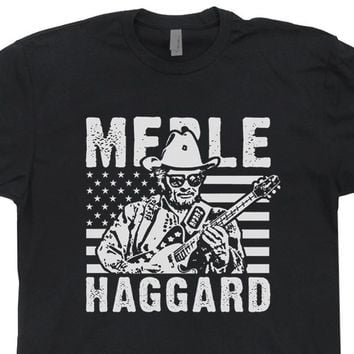 Merle Haggard T Shirt Vintage Country Rock T Shirt