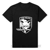 Summer New Metal Gear Solid MGS Fox Hound VideoGame T-shirts Tops Tees Short Sleeve Casual T Shirts