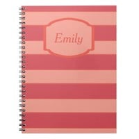 simple pink lines(can change name) notebook