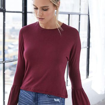 LMFON Me To We Bell Sleeve Top