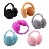 New warm Unisex Soft Fur Fluffy Plush Ear Warmer Muff Band random colour = 1931803780