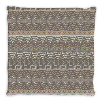 Brown African Mud Cloth Throw Pillow