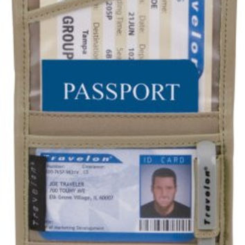 Travelon ID and Boarding Pass Holder with Snap,One Size