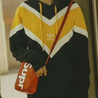 Adidas Clover Stylish Women Men Contrast Color Hoodie Long Sleeve Sweater Pullover Top I-MG-FSSH